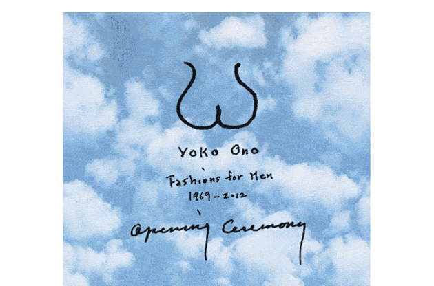Yoko Ono Creates Fashions for Men Collection for Opening Ceremony