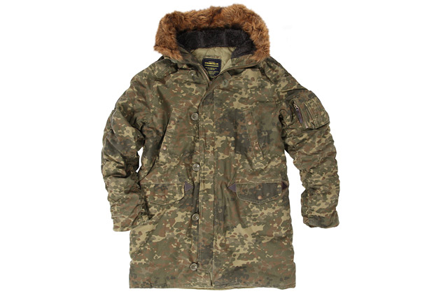 Alpha Industries Slim Fit Cotton N-3B Parka in Camo