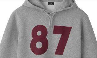 "A.P.C. 25th Anniversary ""87"" Hoodies"