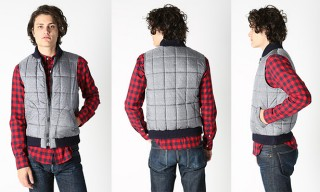 Band of Outsiders Printed Nylon Vest