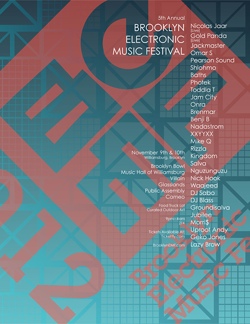 Brooklyn Electronic Music Festival - November 9 - 10