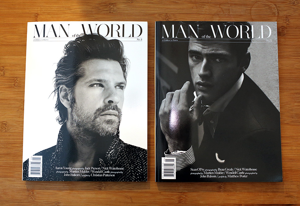 Man of the World Debut Issue - Two Covers