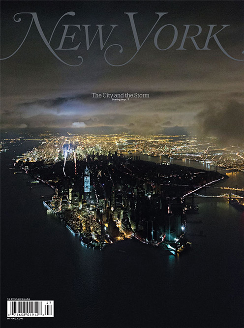 New York Magazine Manhattan Blackout Cover   Hurricane Sandy