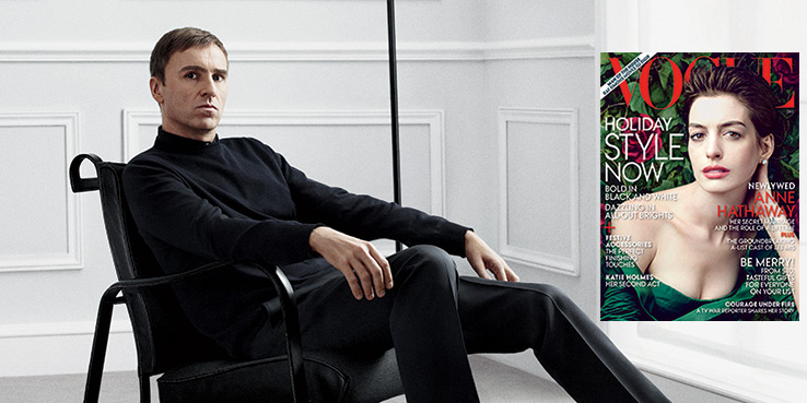 Dior's Raf Simons in Vogue December 2012 Issue