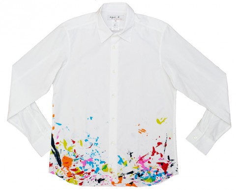 Ryan McGinness Studio Shirts for agnès b. - Brushstrokes