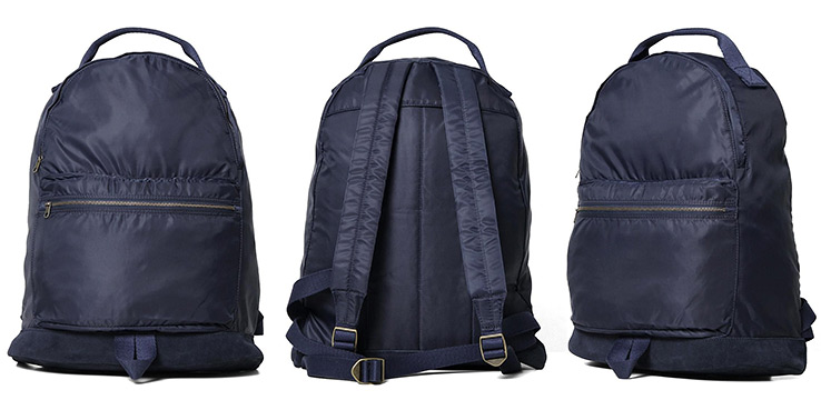 A.P.C. Japanese Nylon Backpack in Blue