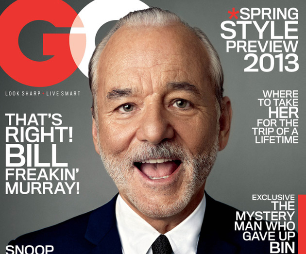 Bill Murray GQ January 2013 Cover