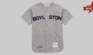 Win This! Boylston Trading Co. by Mitchell & Ness Vintage Baseball Jersey