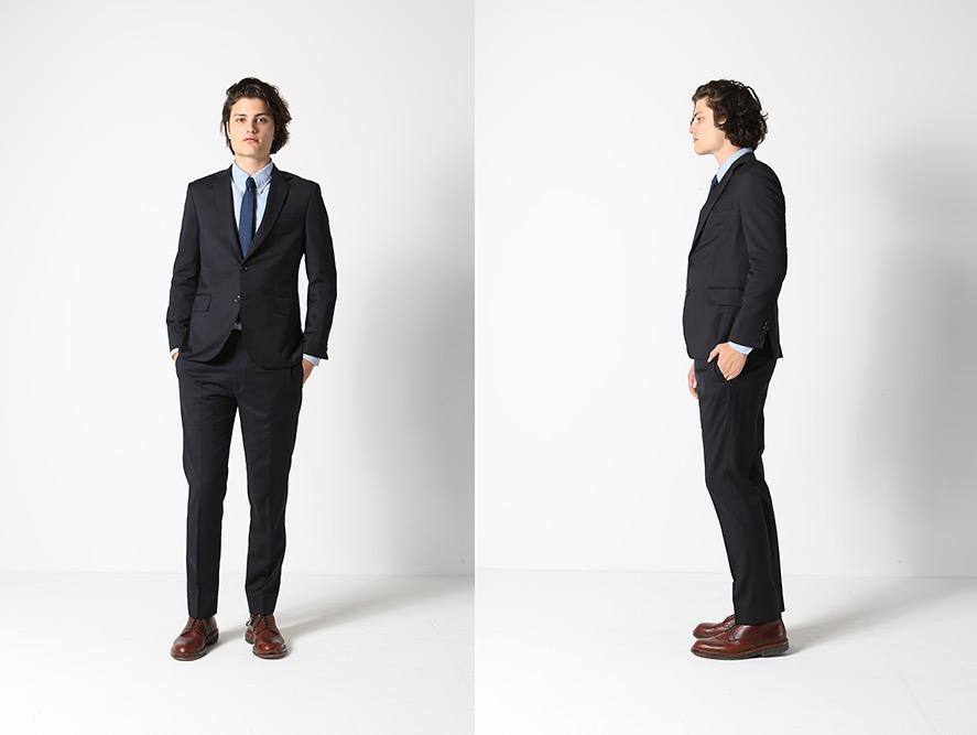 Brooklyn Tailors Hopsack Black Suit