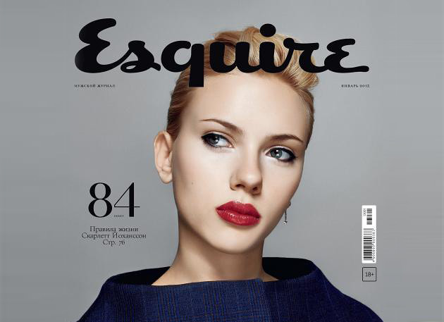 Scarlett Johansson Esquire Russia January 2013 Cover