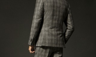 Massimo Dutti Cashmere Checkered Suit