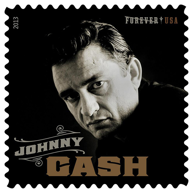 Johnny Cash Forever USPS Postage Stamp