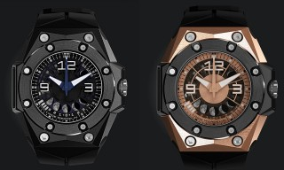 Linde Werdelin Oktopus II Moon Black or Gold Watch