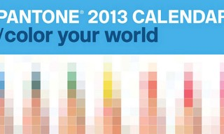 PANTONE 2013 Wall Calendar Designed by Pentagram