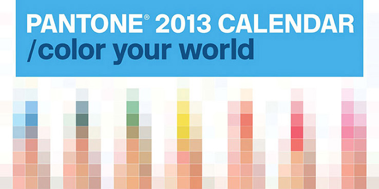 Pantone 2013 Wall Calendar by Pentagram Design