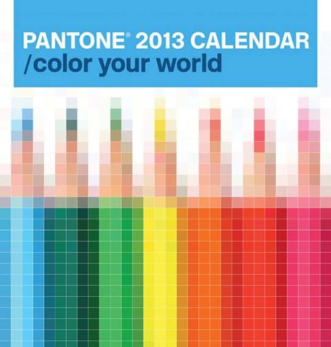 Pantone 2013 Wall Calendar by Pentagram Design