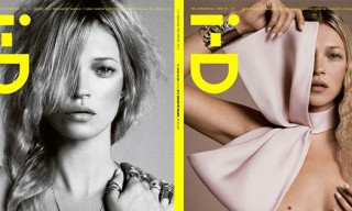 Kate Moss for i-D Magazine with Four Covers