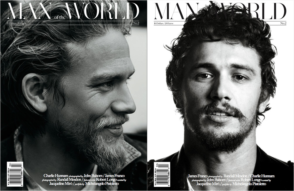 Man of the World Issue 2 James Franco Charlie Hunnam 1