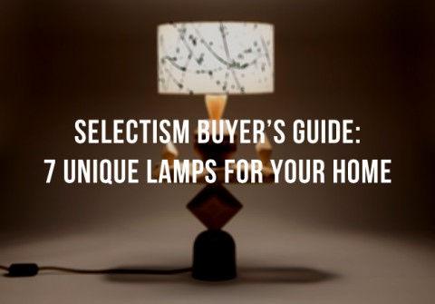 Selectism Buyer's Guide: 7 Creative Lamps for Your Home 1