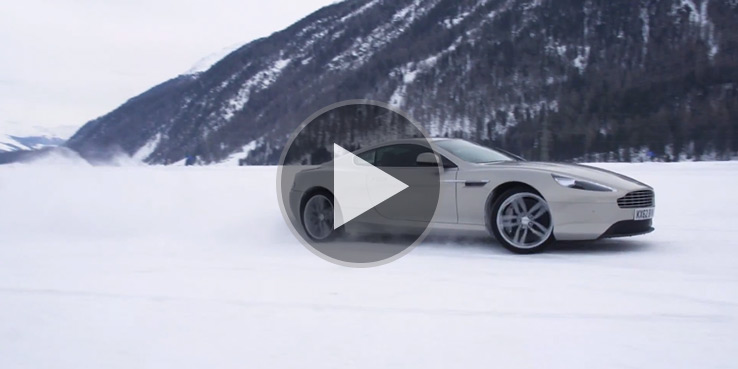 Aston Martin in St. Mortiz - Driving on Ice