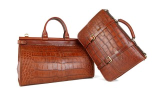 Frank Clegg American Alligator Skin Briefcase, Duffle Bag, and More