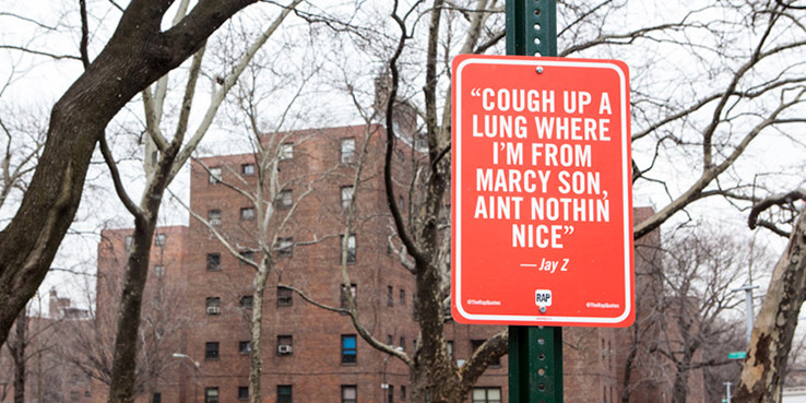 New York Street Signs Memorialize Famous Hip-Hop Lyrics 1