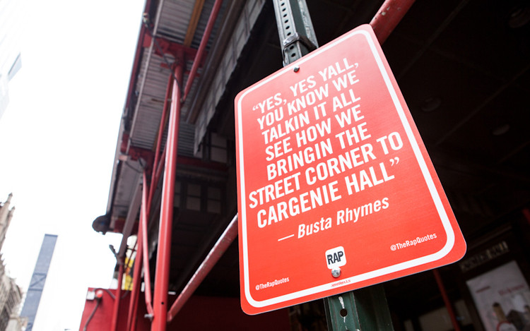 New York Street Signs Memorialize Famous Hip-Hop Lyrics 2