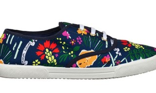 Maison Kitsuné and Pernod Absinthe Printed Sneakers