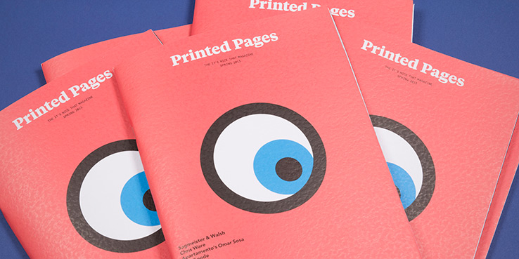 Printed Pages Quarterly Mag from It's Nice That - A Look Inside 1