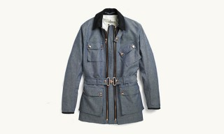 Private White V.C. Twin Track Jacket in Chambray for Spring 2013