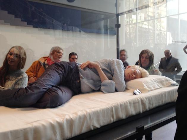Visit MoMA New York   Watch Tilda Swinton Sleeping in a Box