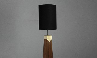 A Walnut Maple Lamp by Allied Maker