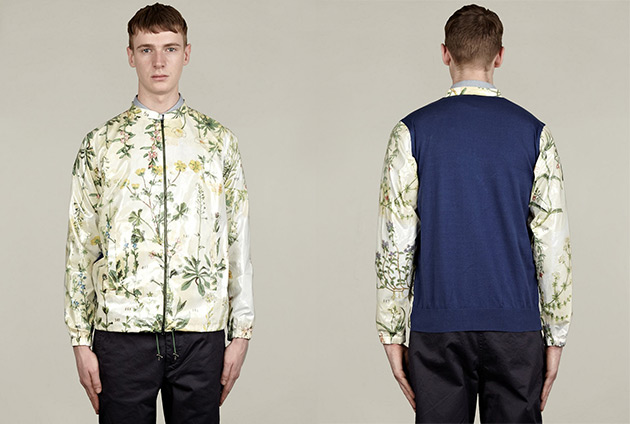 Carven Botanical Herbs Print Pattern Jacket 1