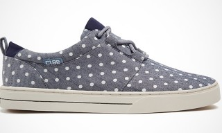 Clae Newman Polka Dot Canvas Sneakers