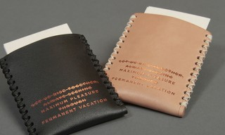 Draught Dry Goods Embossed Leather Card Wallets