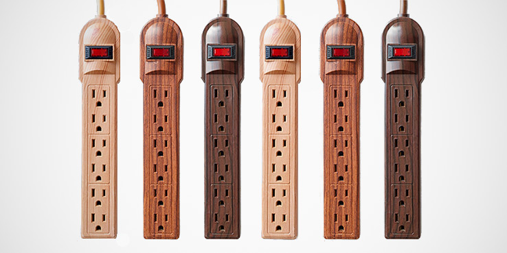 Invisiplug Wood Grain Power Strips 1