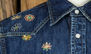 Remi Relief Embroidered Denim Western Shirt