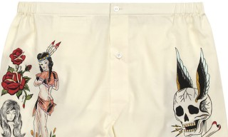 Artist Wes Lang for Sleepy Jones – Tattoo Flash Boxer Shorts