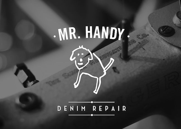 A Visit to Hollands Mr Handy   Denim Repair Man