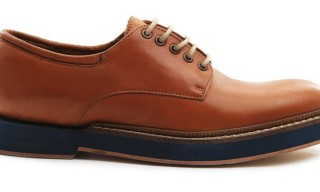 BSTORE Brown Leather 'Michael' Derby with Contrast Sole