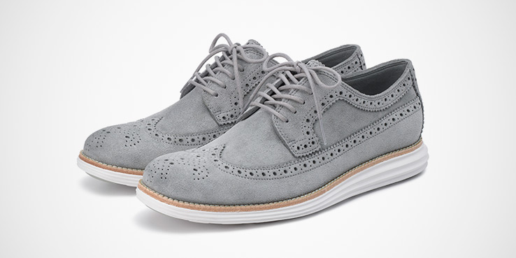 Cole Haan Lunargrand Kudu Suede Leather Collection