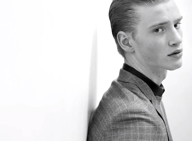Watch Dior Homme in Motion for Fall Winter 2013   Graphic Prints & Precise Lines