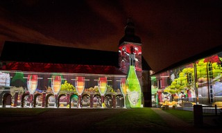 "Dom Perignon 2004 Vintage Launch with ""The Expanding Universe"" Wall Projection"