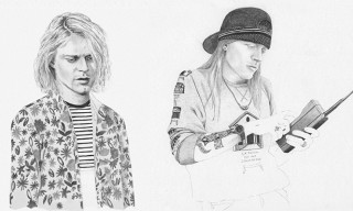 "5 ""As Worn By"" Music Icons Portraits feat. Kurt Cobain, Axl Rose, Ian Curtis and more"