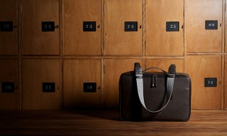 An Italian Leather & British Wool Carry-On Suitcase from Hard Graft