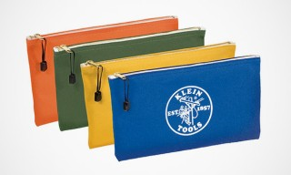 The Colorful Klein Tools Canvas Zipper Pouches