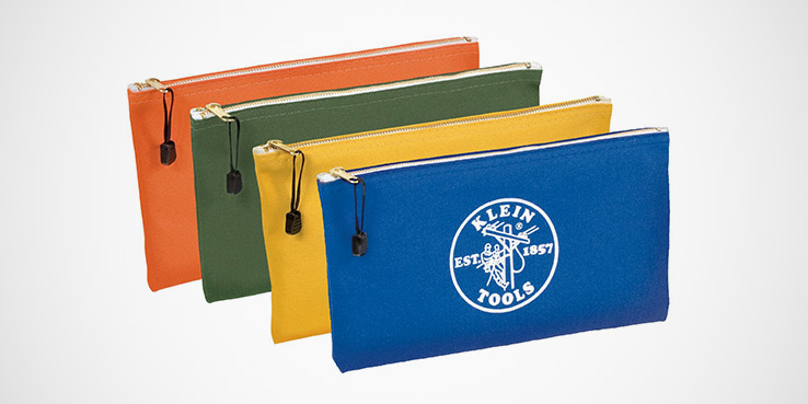The Colorful Klein Tools Canvas Zipper Pouches 1