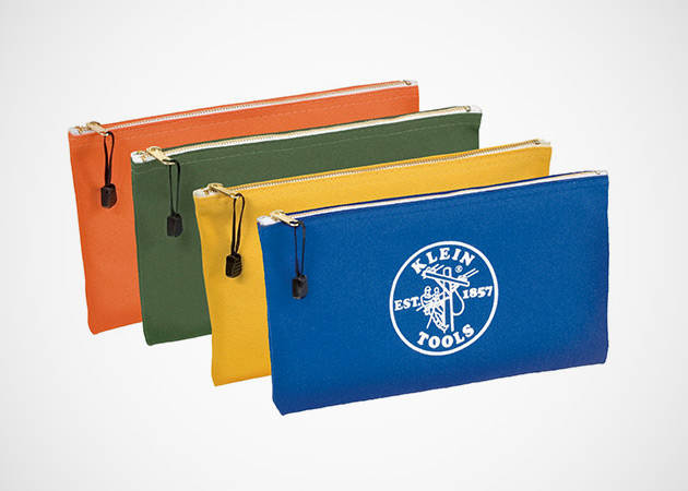 The Colorful Klein Tools Canvas Zipper Pouches 3