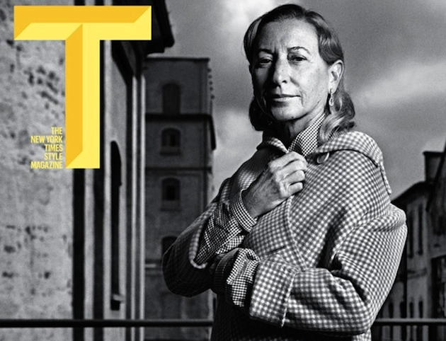 New York Times T Magazine Speak to Miuccia Prada