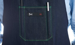 A 3×1 Denim and Cool Hunting BBQ Apron with Built-in Beer Pocket